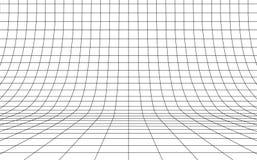 Net gebogen achtergrond leeg in perspectief, vectorillustratie vector illustratie
