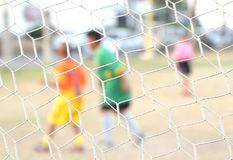 Net give net clear person play football not cle Stock Photography