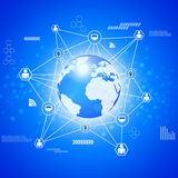 Net Global Connections Royalty Free Stock Image