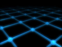 A net with glow effect. A 3d net with glow effect Royalty Free Stock Photo