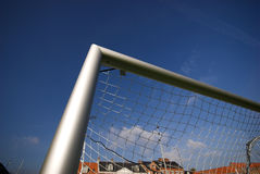Net in Goal Corner. Royalty Free Stock Image