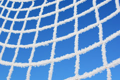 Net of goal in hoarfrost Royalty Free Stock Photos