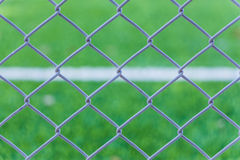 Net on green grass Royalty Free Stock Images