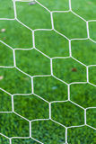 Net on green grass Stock Photo