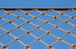 Net hung on iron bar Stock Image