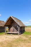Net hut circa 1920 in Ethnographic Open-Air Museum of Latvia Stock Photo