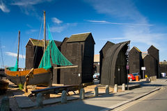 Net huts in Hastings, UK. Stock Images