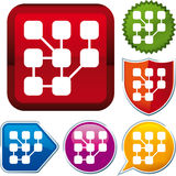 Net icon Stock Photo