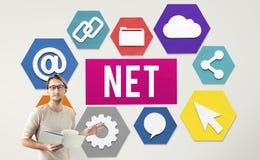 Net Internet Network Online Web Concept Stock Photos