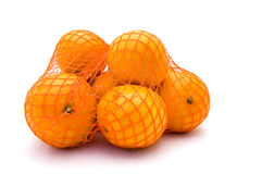 Net with mandarines Royalty Free Stock Images