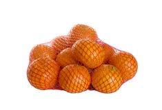 Net with Mandarins Royalty Free Stock Photography