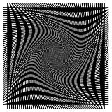 Net, netwerk met misvorming, afwijkingseffect - Reeks van twee lagen van stock illustratie