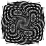 Net, netwerk met misvorming, afwijkingseffect - Reeks van twee lagen van royalty-vrije illustratie