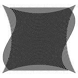 Net, netwerk met misvorming, afwijkingseffect - Reeks van twee lagen van vector illustratie