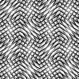 Net, netwerk, van zigzag, gespannen lijnen Mozaïek zoals grill, het raspen bedelaars royalty-vrije illustratie