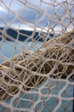 Net. Work for fishing close-up Royalty Free Stock Image