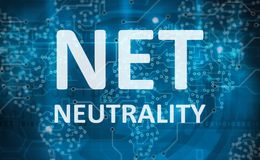 Net neutrality abstract background Royalty Free Stock Photo