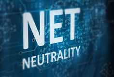 Net neutrality abstract background Stock Image