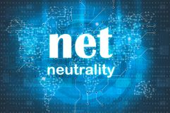 Net neutrality abstract background Stock Photos