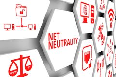 NET NEUTRALITY concept. Cell background 3d illustration royalty free illustration