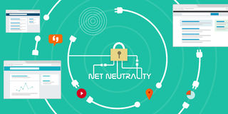 Net Neutrality free internet access Stock Images