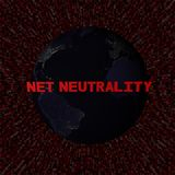 Net Neutrality text with earth by night and red hex code illustration. Elements of this image furnished by NASA stock illustration