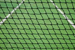 Net at old tennis court Stock Photography
