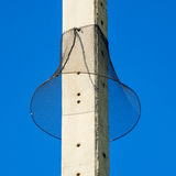 Net protect eletric pole from animal climb over the pole Royalty Free Stock Images
