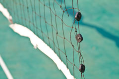 Net in rattan court Royalty Free Stock Image