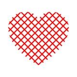Net red heart - vector. Net red heart - stock vector stock illustration