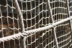 Net rope. Creating an interesting background Stock Photos