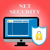 Net Security Shows Protected Web Site And Communication Stock Image