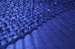 Net Shawl with Square Sequins Stock Photos