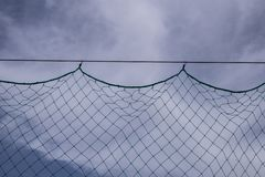 Net with sky background stock image