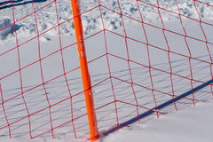 Net in snow Royalty Free Stock Image