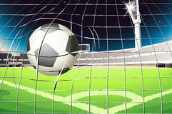 A net with a soccer ball Stock Photo