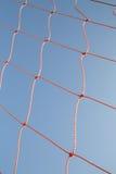 Net on soccer door frame Stock Photo