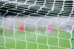 Net of a soccer goal Stock Photos