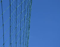 Net of a soccer goal against the blue sky Royalty Free Stock Photo