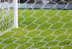 Net soccer goal football green grass Royalty Free Stock Photography