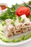 Net spring rolls Stock Photos
