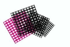 Net table design on the white background Stock Images