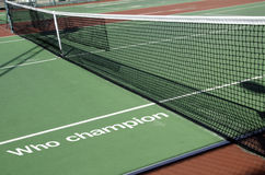 Net Tennis. Net on the tennis court Stock Image