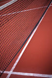 Net. On a tennis court royalty free stock photography