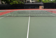 Net Tennis Court Stock Photo