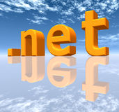 NET Top Level Domain. A computer generated 3D illustration Stock Image
