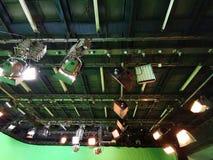 Net van lichten in een televisiestudio royalty-vrije stock fotografie