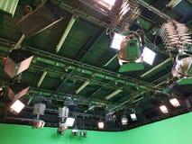 Net van lichten in een televisiestudio royalty-vrije stock afbeeldingen
