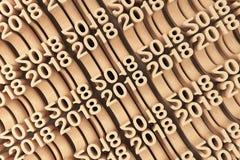 Net van oranje Nieuwe 2018 Jaar cijfers Stock Foto's