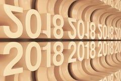 Net van oranje Nieuwe 2018 Jaar cijfers stock illustratie